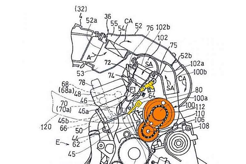 Kawasaki files PATENT for hybrid injection system for its supercharged engine.
