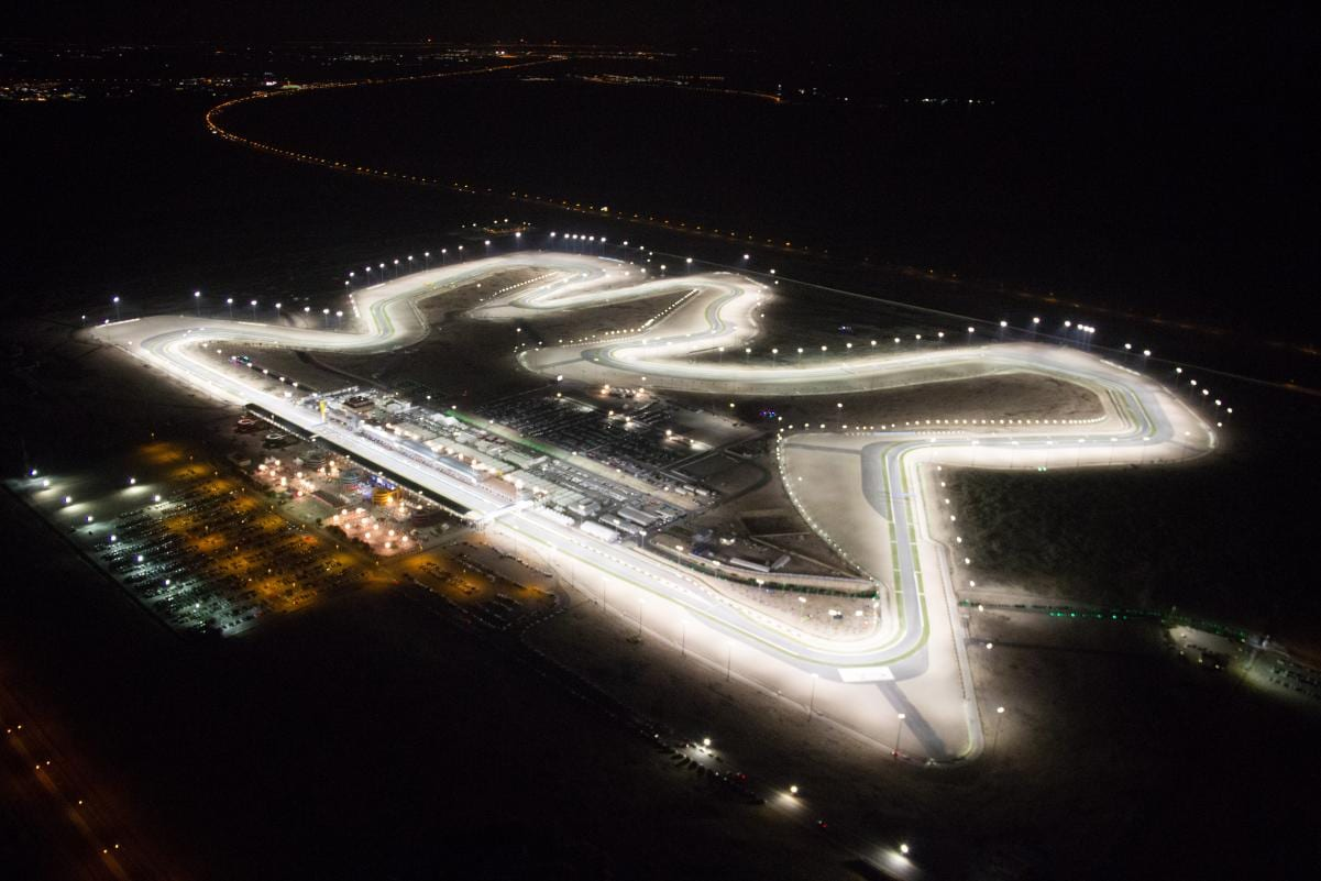 The lights will still be on, but it won't look anything like as impressive as this from now on at Qatar in MotoGP.