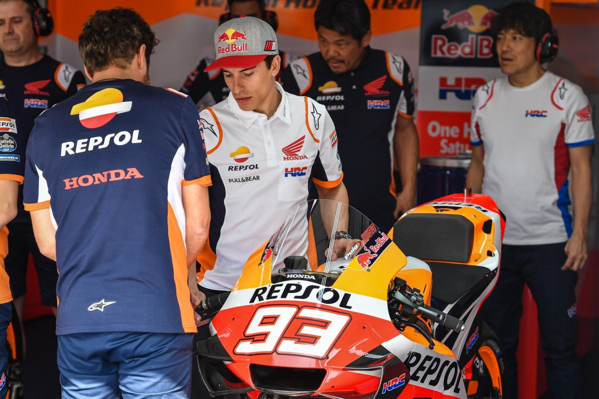 Marc Marquez is struggling already. This is not looking good for the injured Champ.