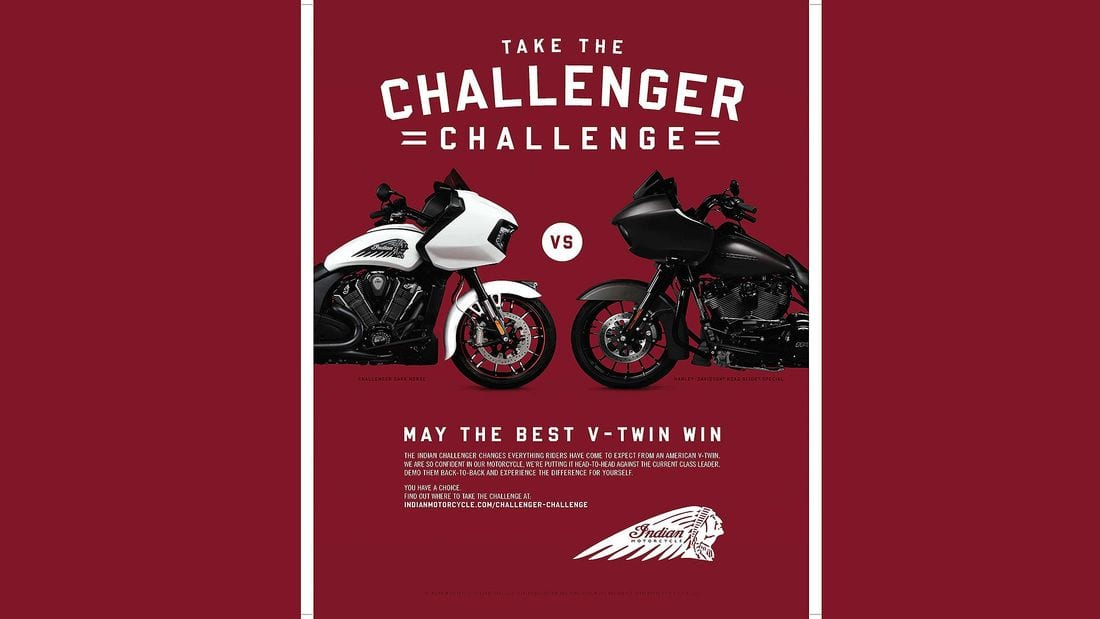 Sparks fly! Harley-Davidson and Indian Motorcycles go to war. Sort of.