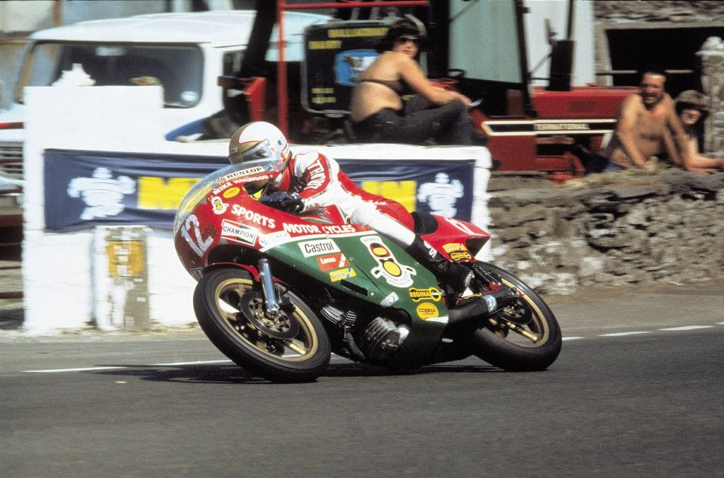 Making history on the Mountain, Mike Hailwood in 1978.
