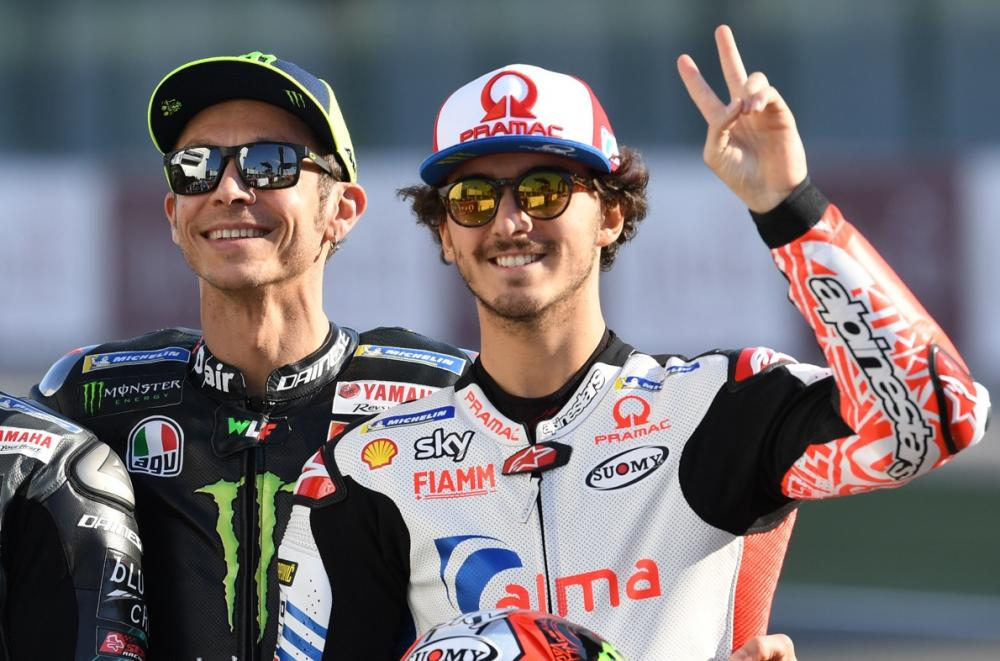 Rossi and Bagnaia help hospitals in fight against coronavirus.