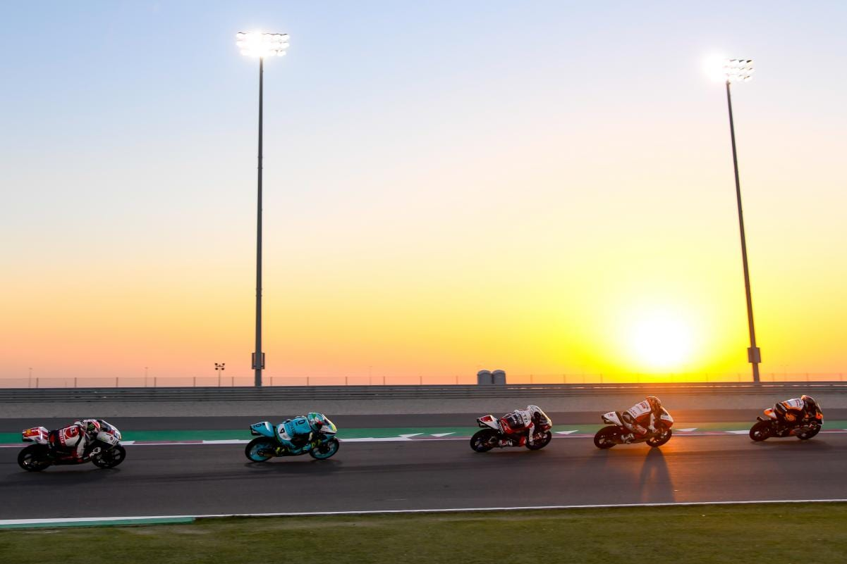 The Moto2 race in Qatar is going ahead this weekend.