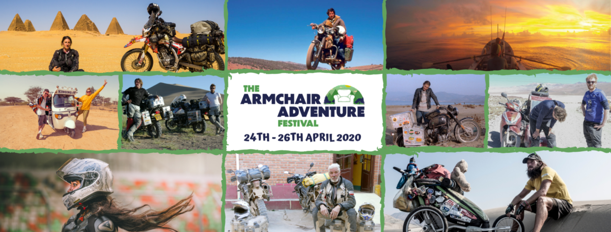 THIS WEEKEND: The Armchair Adventure Festival. Stay safe. Get inspired.
