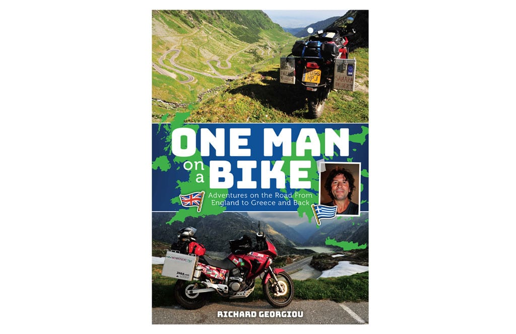 Cover of the One Man on a Bike book.