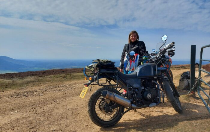 Victoria Levitt and her 2018 Royal Enfield Himalayan