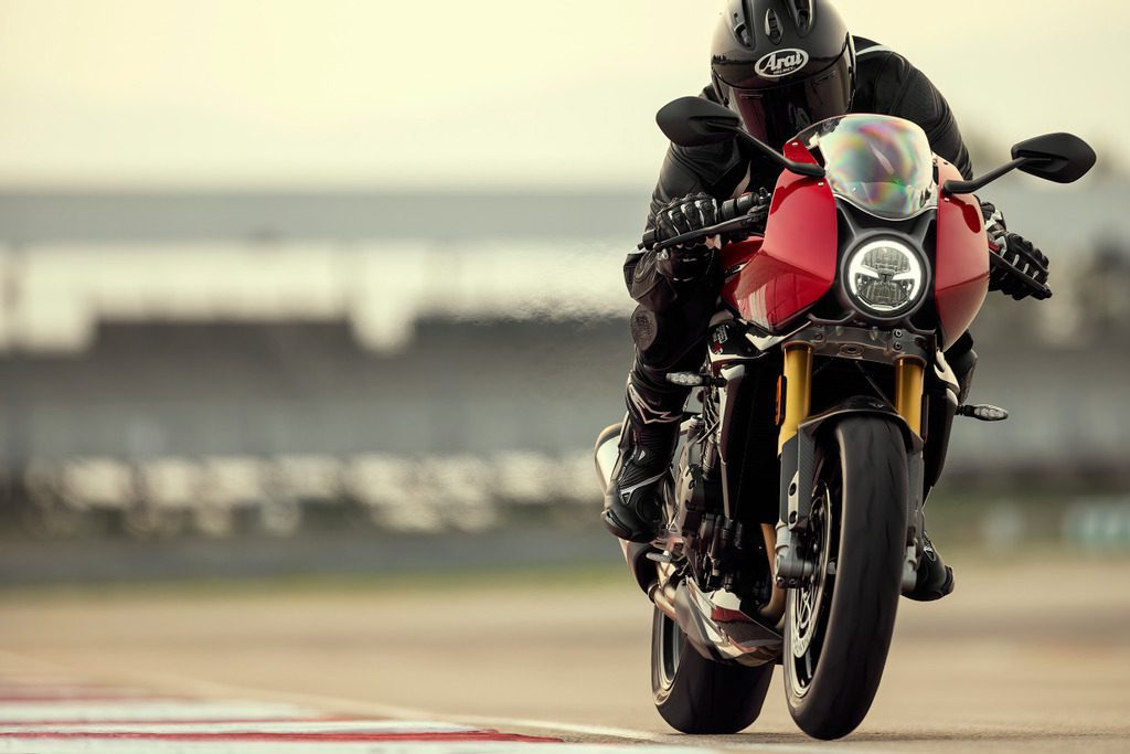 Triumph Speed Triple 1200 RR on the track