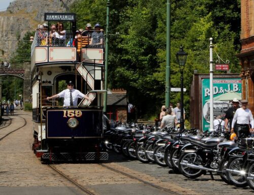 Classic Motorcycle Day at Crich Tramway Village