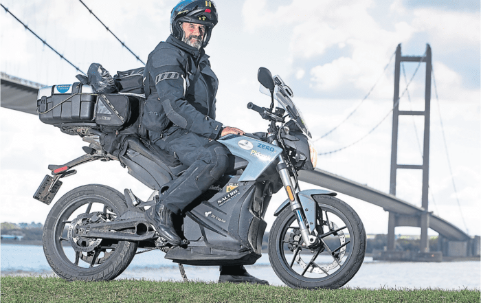 Curt and his Electric Zero Motorcycle