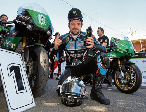 ROAD RACING ACE MICHAEL DUNLOP CLAIMS TOP SPOT AT STAFFORD CLASSIC BIKE SHOW IN OCTOBER